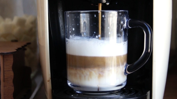 Preparing Coffee with Coffee Machine