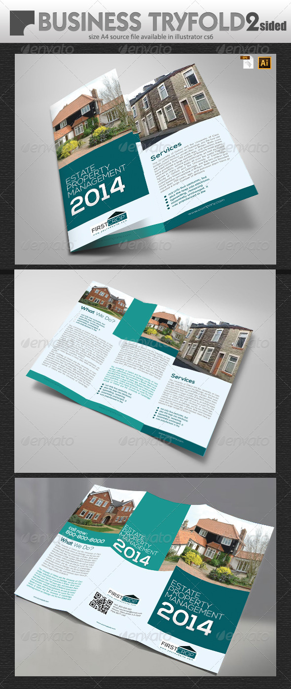 GraphicRiver Uk Property Management TriFold 6658953