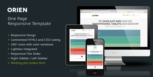 Orien One Page Responsive HTML5 Template