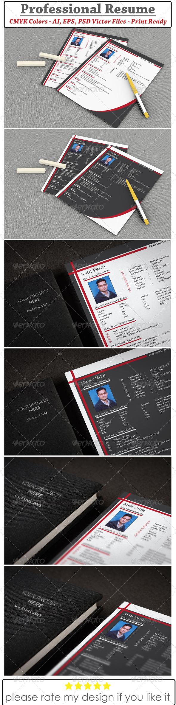 GraphicRiver Resume & CV Design 6033779