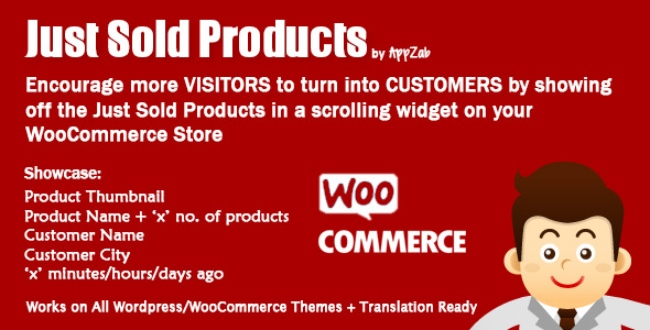 CodeCanyon WooCommerce Just Sold Products by AppZab 6659402