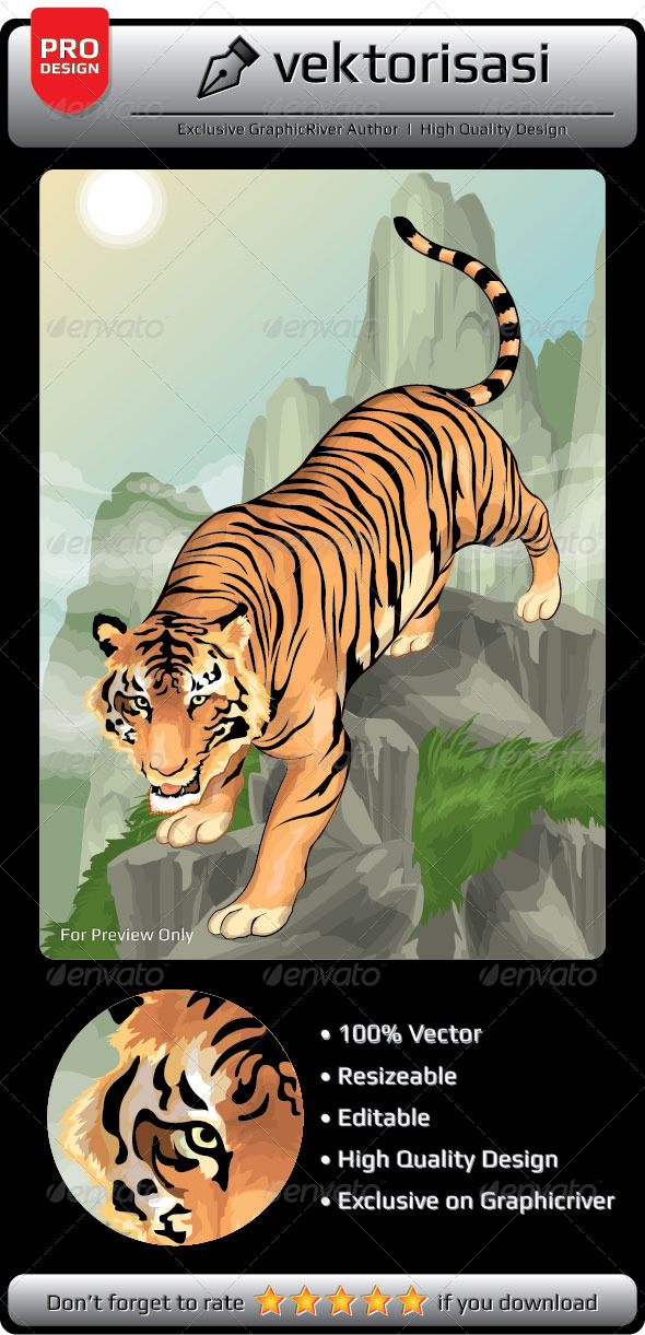 GraphicRiver Tiger Vector 6659408