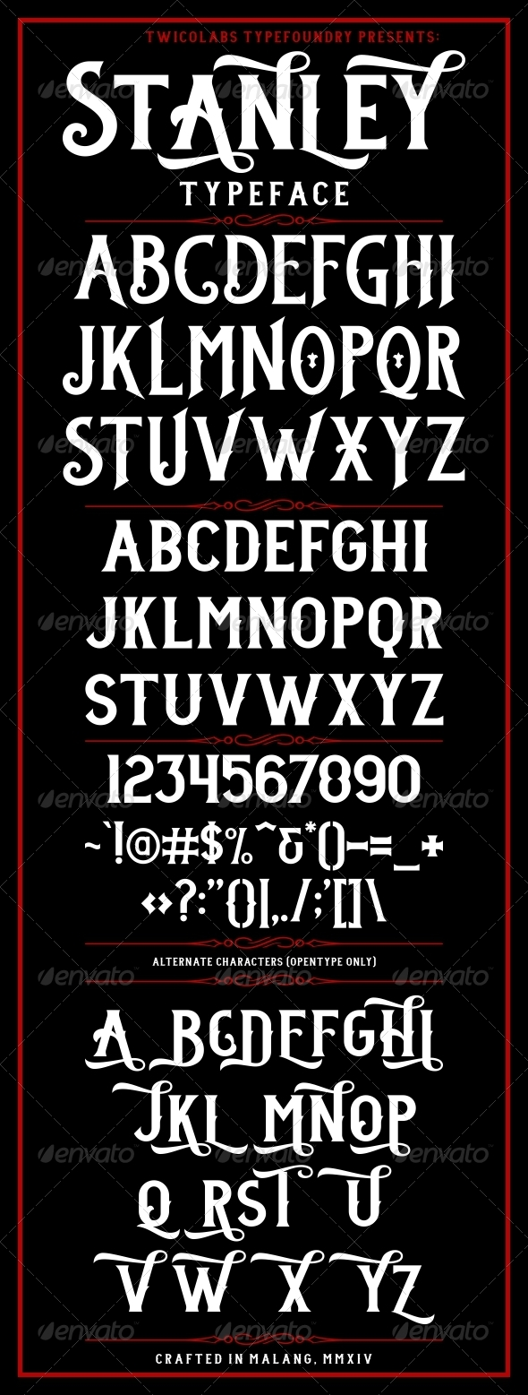 GraphicRiver Stanley Typeface 6659421
