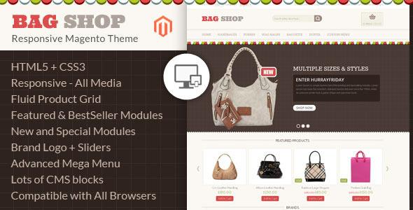 Bag Shop - Magento Responsive Template
