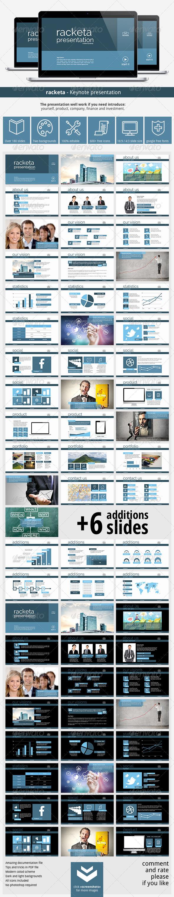 GraphicRiver Racketa Keynote Presentation 6619928