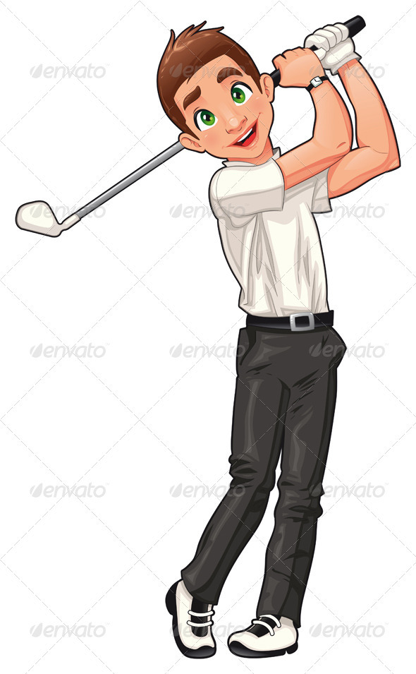 GraphicRiver Golf player 698154