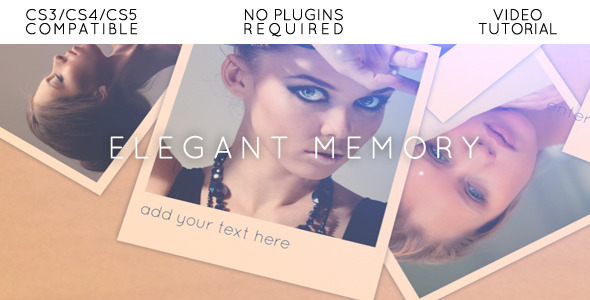 After Effects Project - VideoHive Elegant Memory 698168