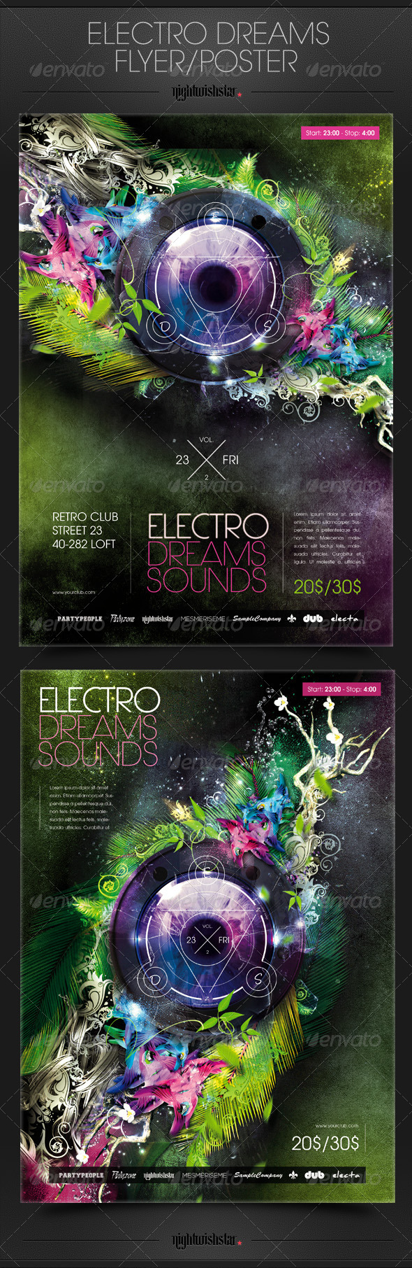 GraphicRiver Electro Dreams Poster Flyer 6658163