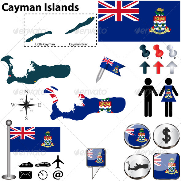 GraphicRiver Map of Cayman Islands 6659861