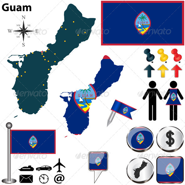 GraphicRiver Map of Guam 6659888