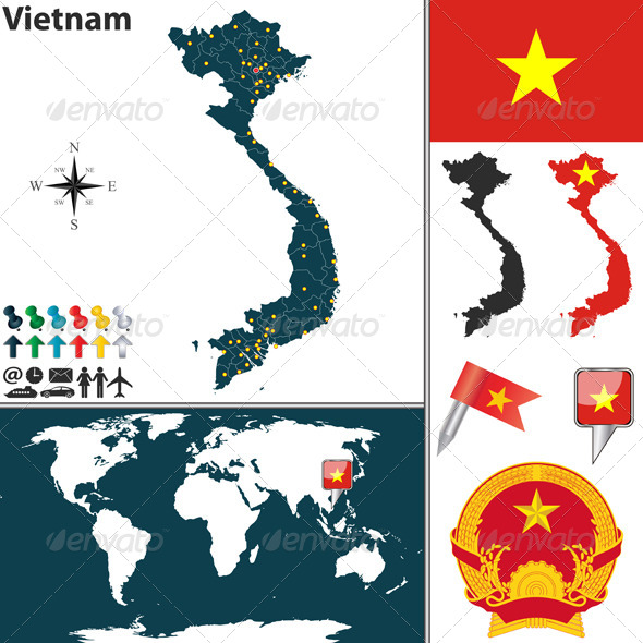 GraphicRiver Map of Vietnam 6659891