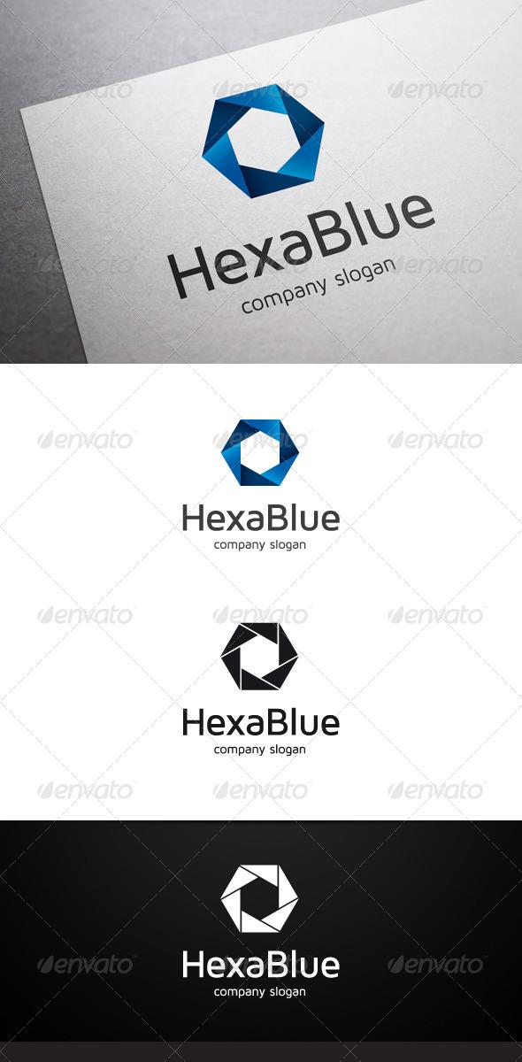 GraphicRiver Hexa Blue Logo 6655373