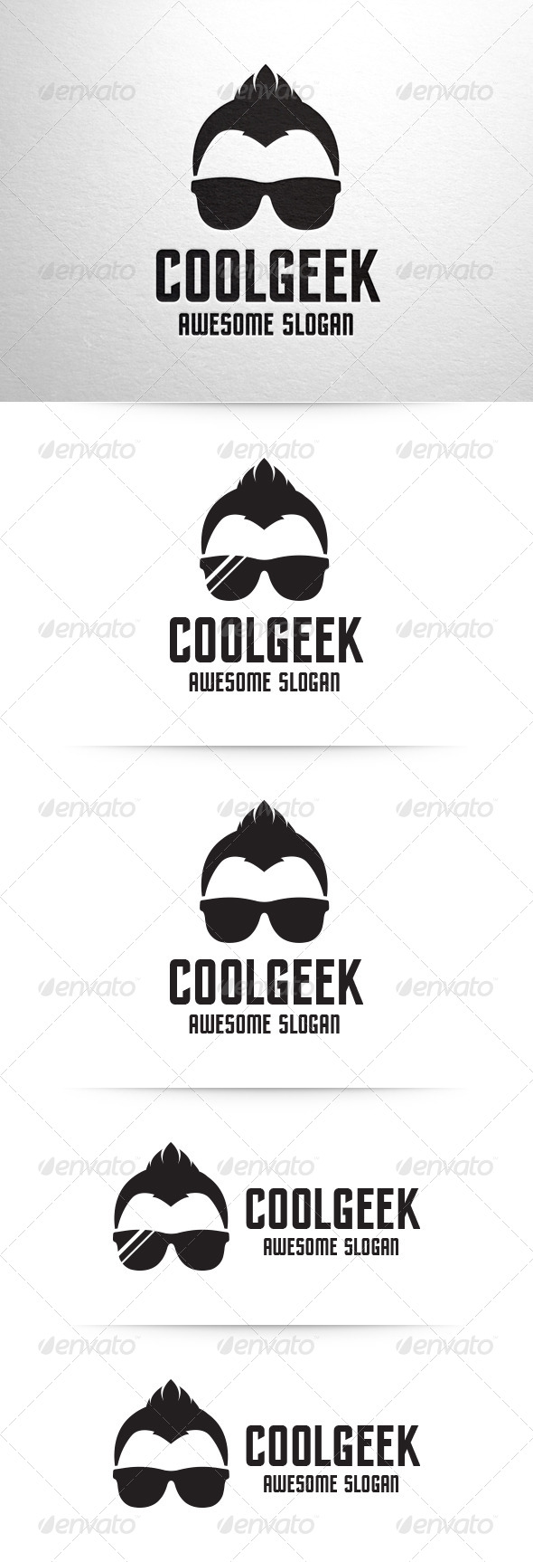 GraphicRiver Cool Geek Logo Template 6660260