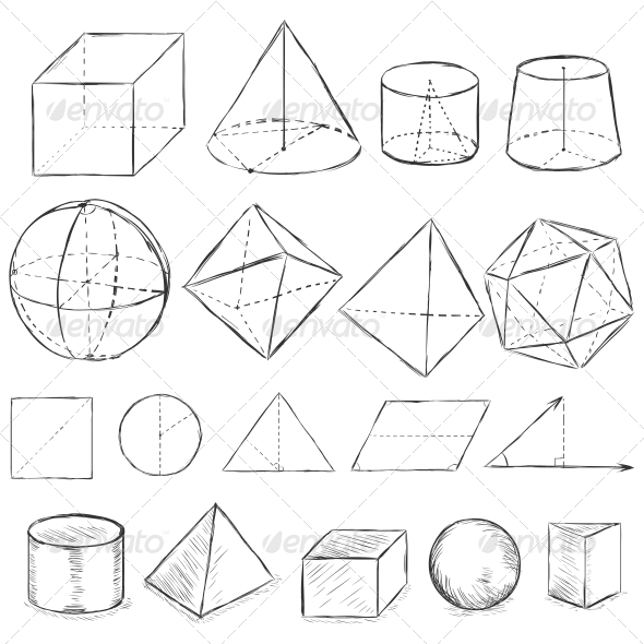 GraphicRiver Sketch Geometric Shapes 6660334