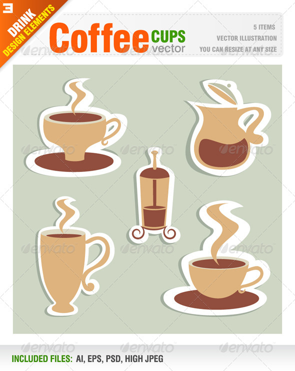 GraphicRiver Coffee Cups 6656206