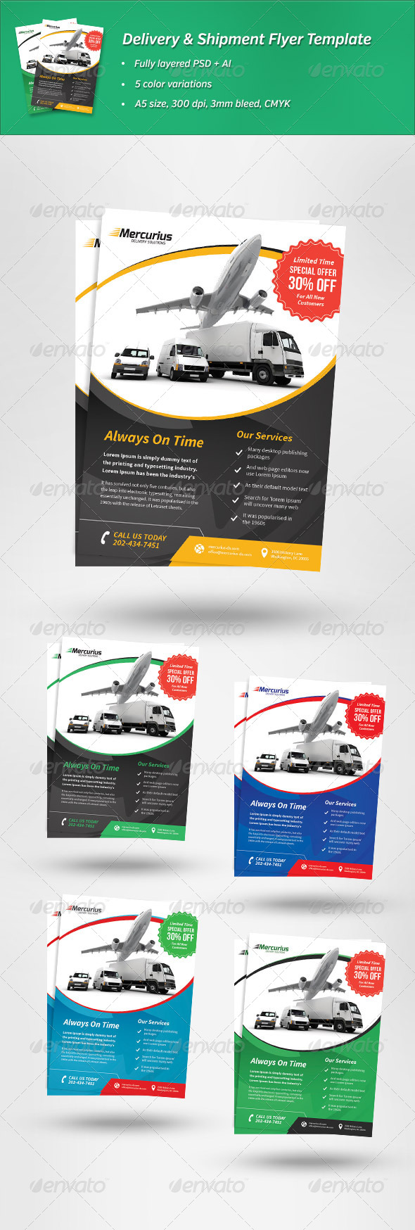 GraphicRiver Delivery & Shipment Flyer Template 6653107