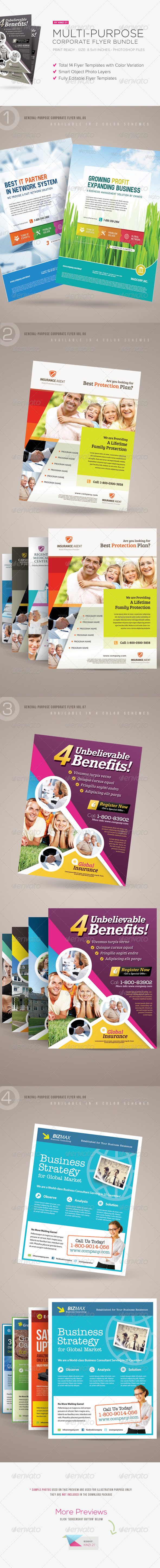 Multi-purpose Corporate Flyer Bundle - Corporate Flyers