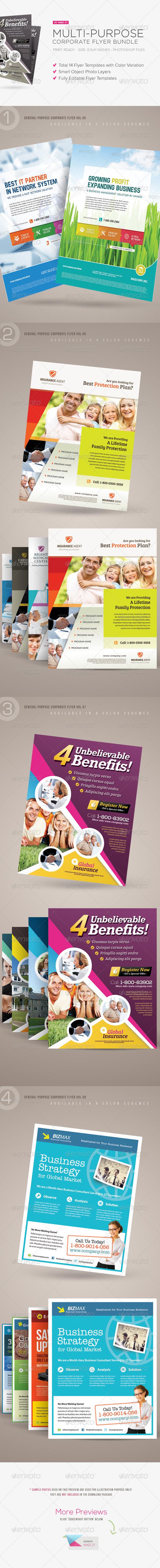 GraphicRiver Multi-purpose Corporate Flyer Bundle 6660615