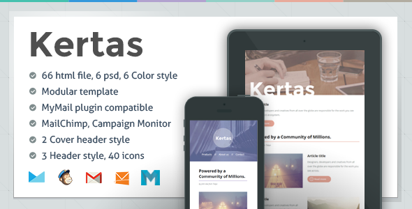ThemeForest Kertas Responsive Email Template 6660688