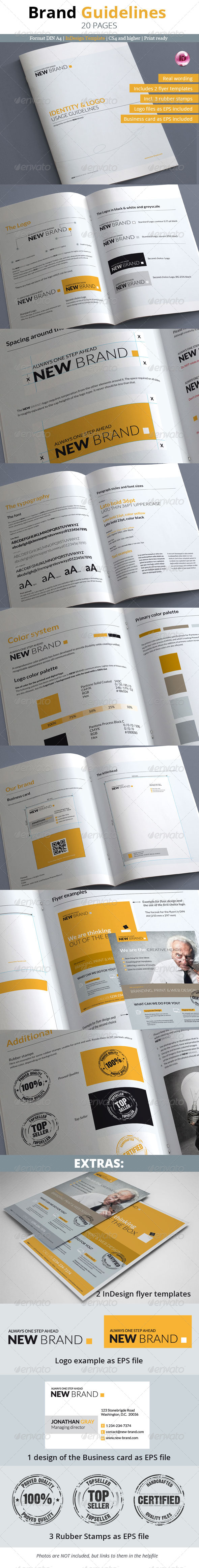 GraphicRiver Brand Guidelines 20 Pages 6660835