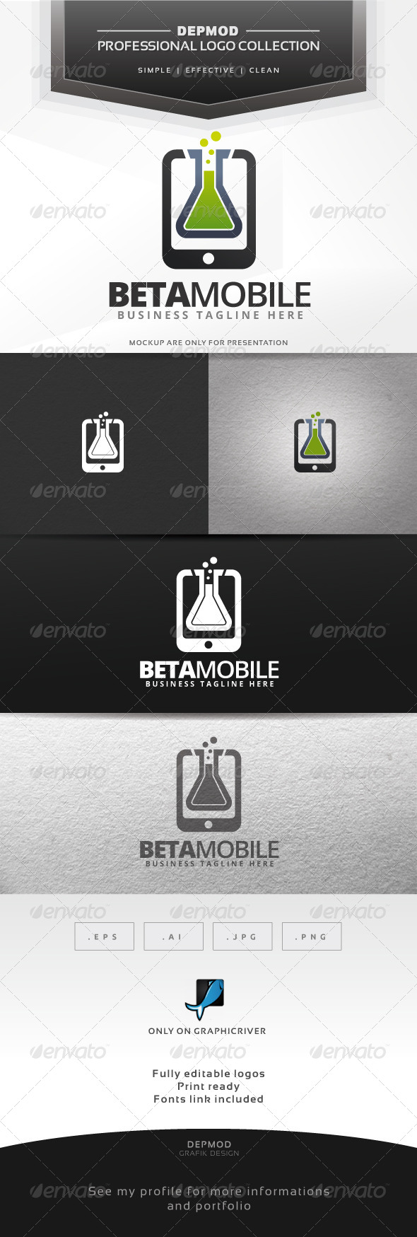 GraphicRiver Beta Mobile Logo 6660860