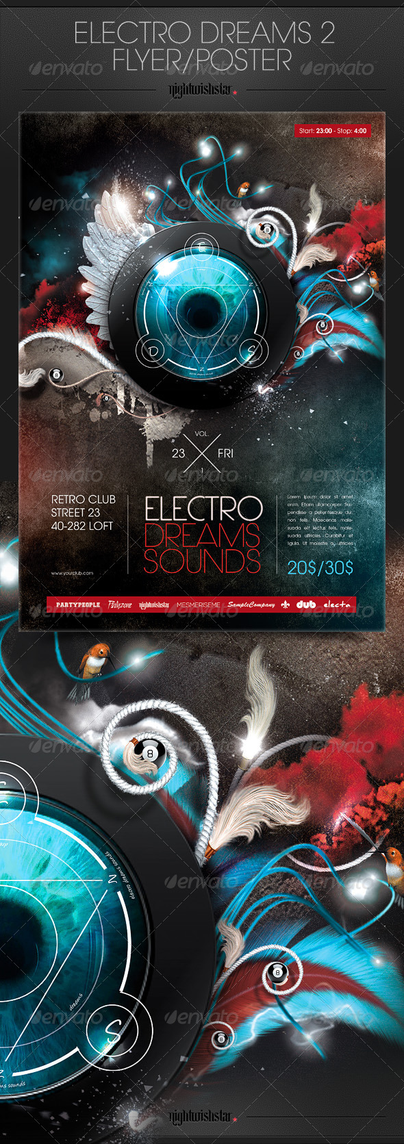 GraphicRiver Electro Dreams 2 Poste Flyer 6661021