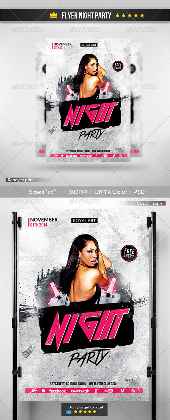Flyer Night Party - Clubs & Parties Events