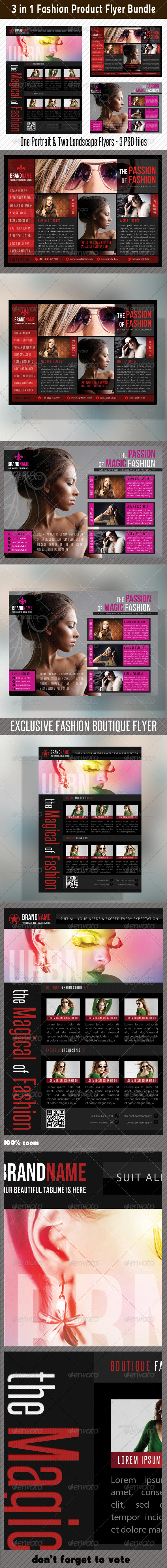 GraphicRiver 3 in 1 Fashion Product Flyer Bundle 10 6661337