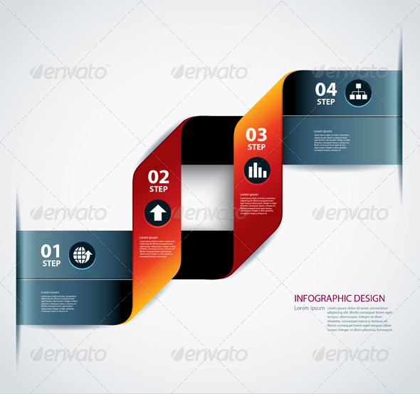 GraphicRiver Business Step Paper Data and Design Template 6661444