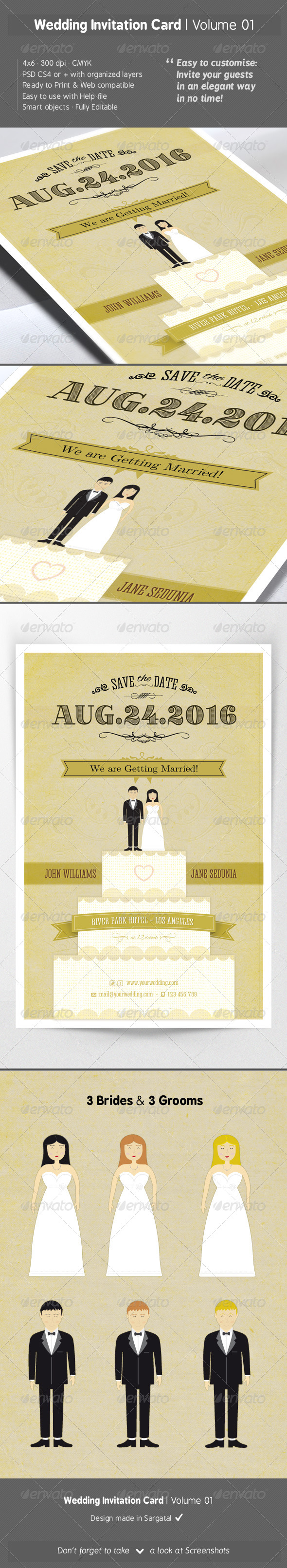 Wedding Invitation Card - Volume 01