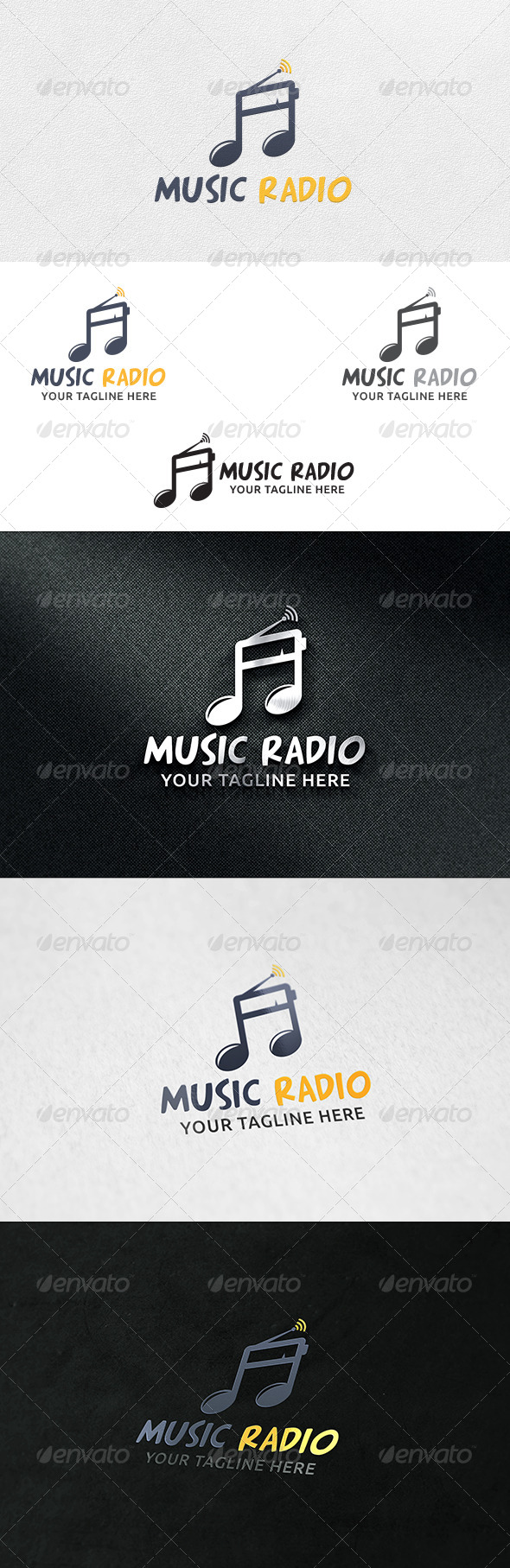 GraphicRiver Music Radio Logo Template 6661898