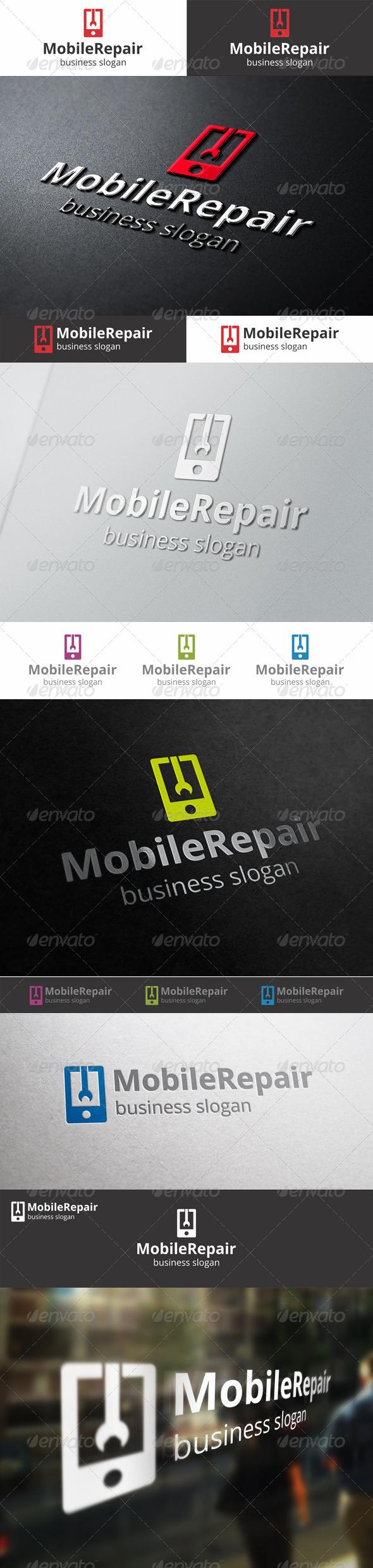 GraphicRiver Mobile Repair Logo Template 6662105