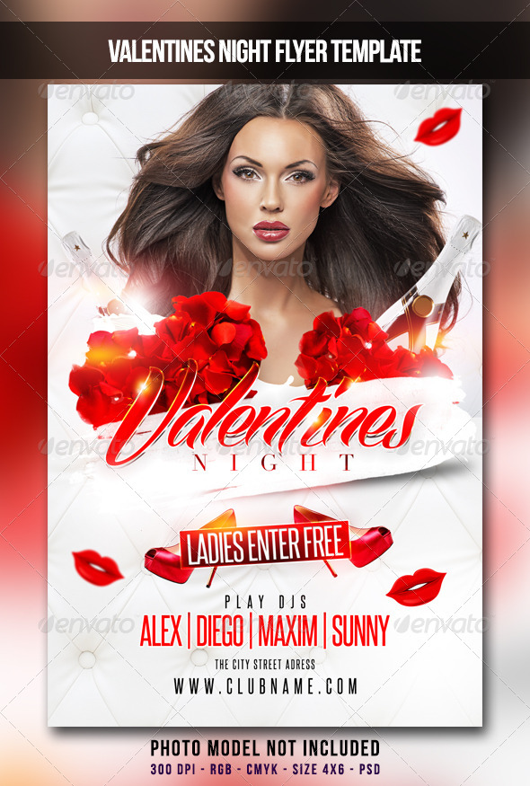 GraphicRiver Valentines Night Flyer 6662130