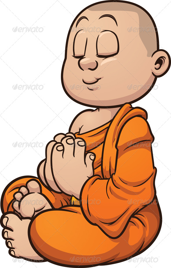 Buddhist Monk | GraphicRiver