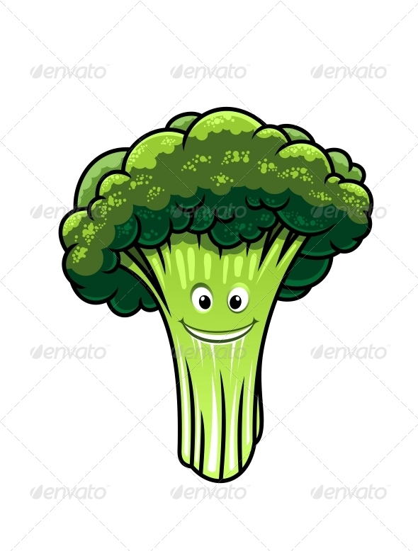GraphicRiver Fresh Broccoli with a Happy Face 6662163