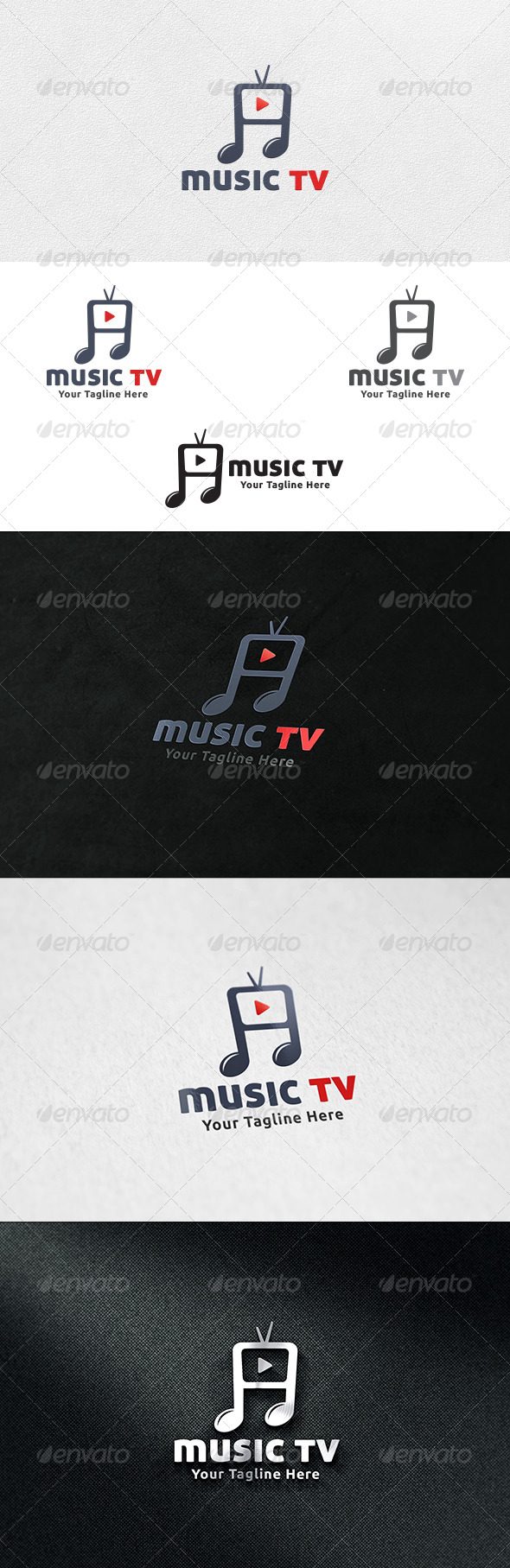 GraphicRiver Music TV Logo Template 6662242