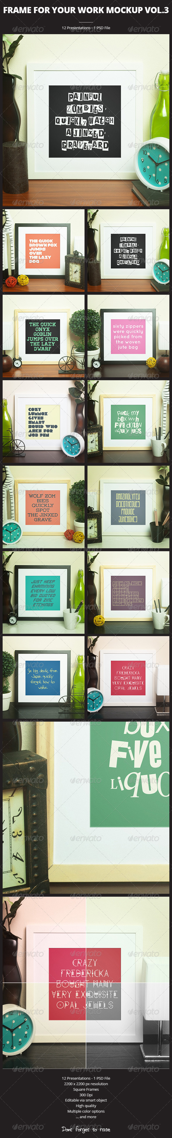 GraphicRiver Frame For Your Work vol.3 6662289