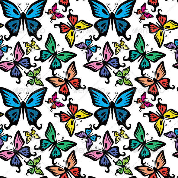 GraphicRiver Butterfly Seamless Texture 6662565