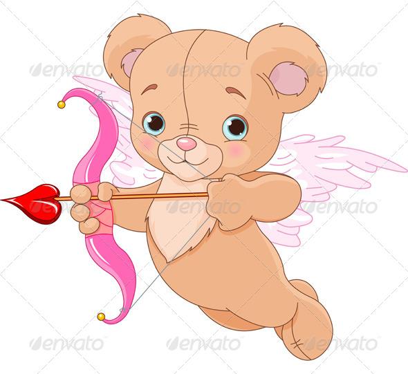 GraphicRiver Valentine Cupid Bear 6662623