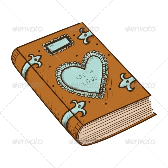 GraphicRiver Book with Decorative Heart 6662638