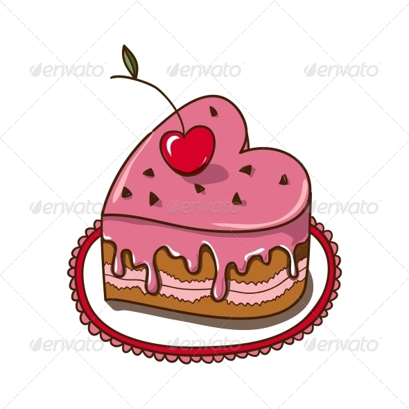 GraphicRiver Heart Shaped Cake 6662650
