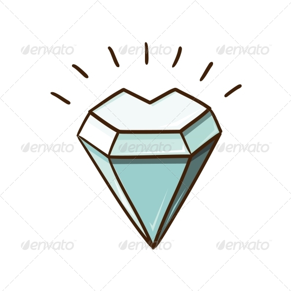 GraphicRiver Heart Shaped Diamond Stone 6662693