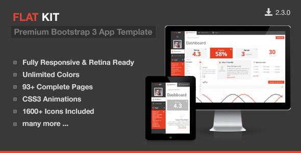FLAT KIT - Premium Bootstrap 3 App Template