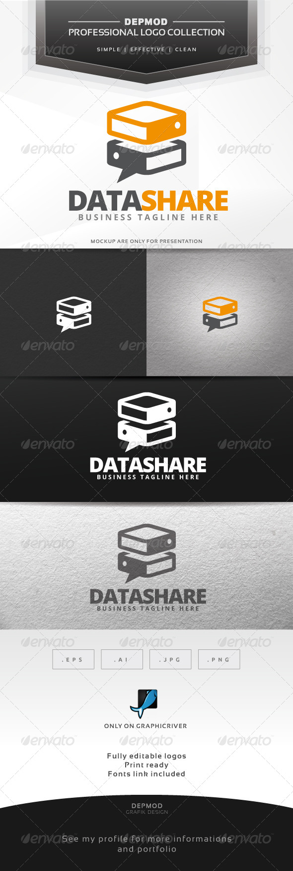 GraphicRiver Data Share Logo 6662707