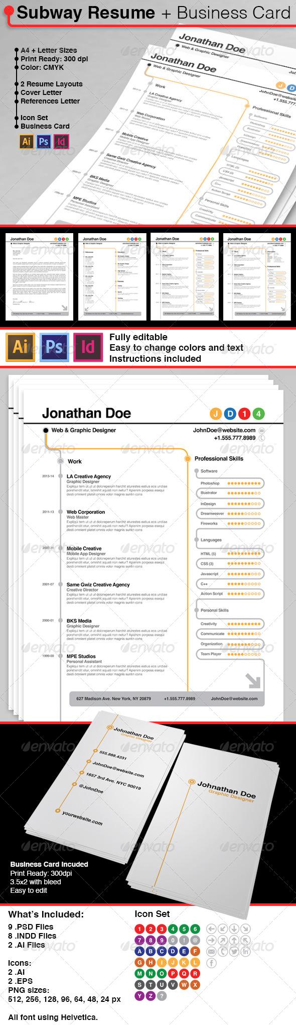 GraphicRiver Subway Resume 6656842