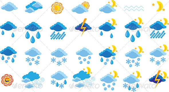 GraphicRiver Set of Weather Icons 6662966