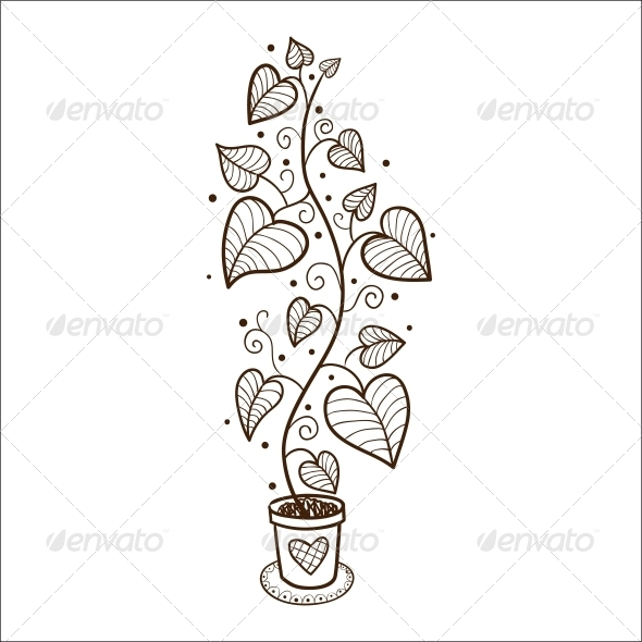 GraphicRiver Flower in a Pot 6663140