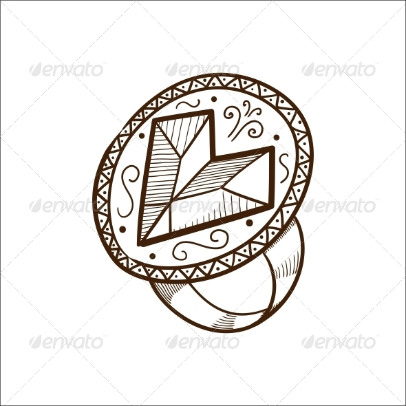 GraphicRiver Ring with Heart Diamond 6663144