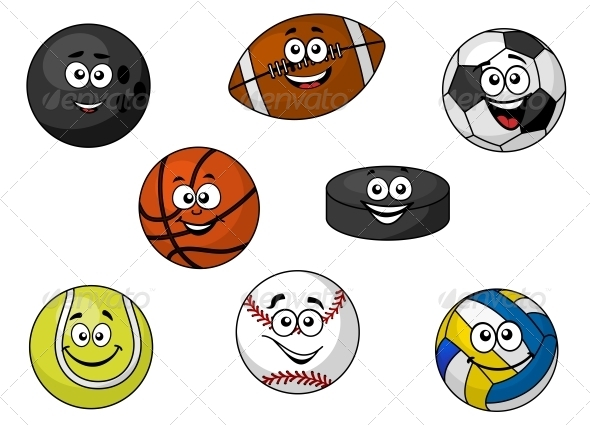 GraphicRiver Happy Sporting Balls and Equipment 6663247