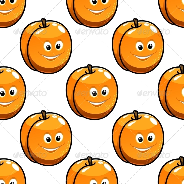 GraphicRiver Seamless Pattern Apricot 6663257